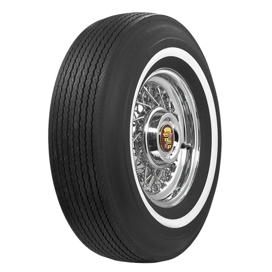 Coker Tire 62870 BF Goodrich 1 Inch Whitewall Tire, L78-15