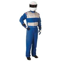 Simpson Elite One Piece Racing Suit, Blue, Small