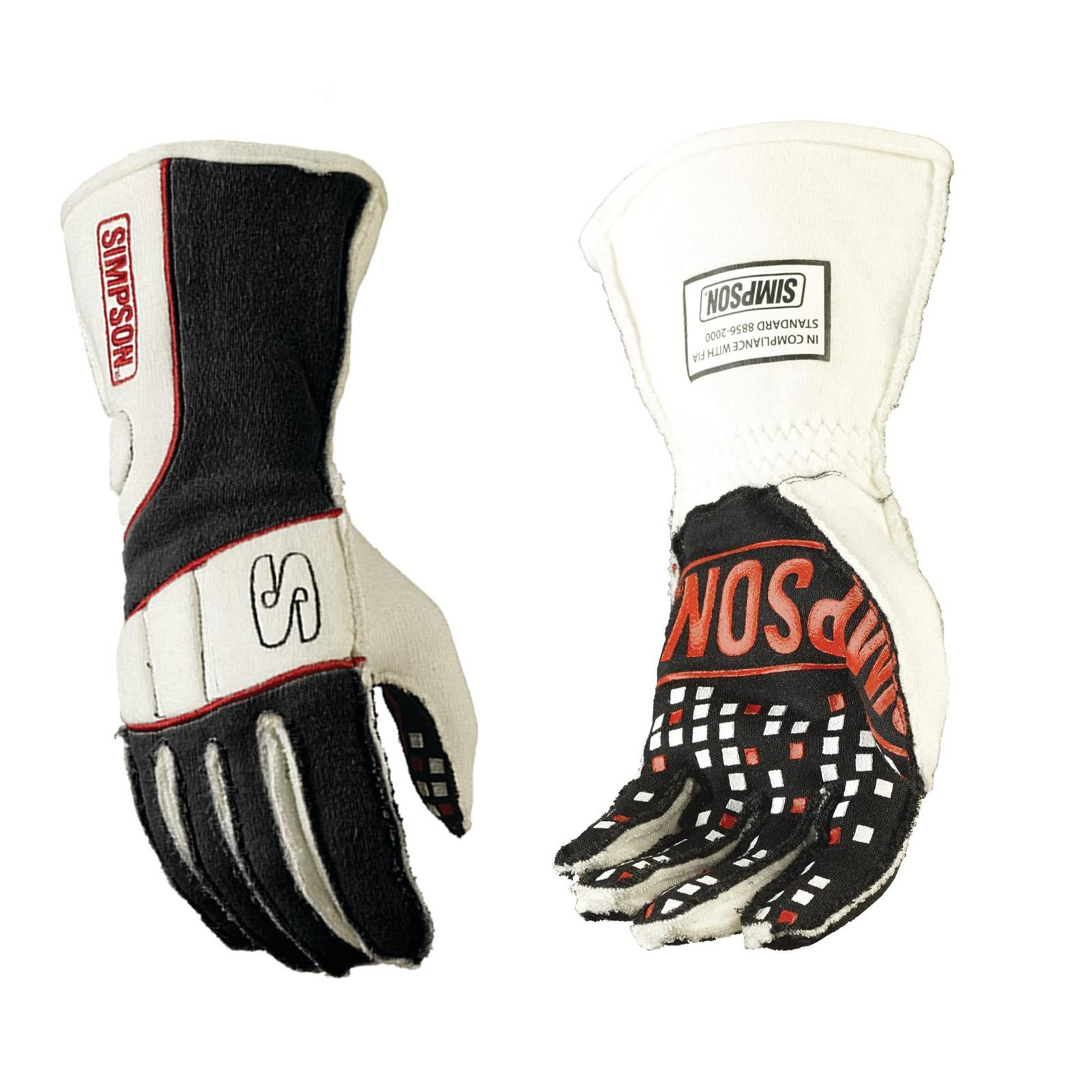 Simpson Racing Gloves Vortex FIA and SFI 3 3 5 Rated