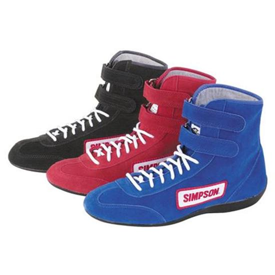 Simpson Suede Leather Hightop Racing Shoes