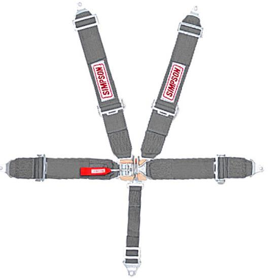 Simpson 5-Point Seat Belt Sets, Bolt-In, Pull Down