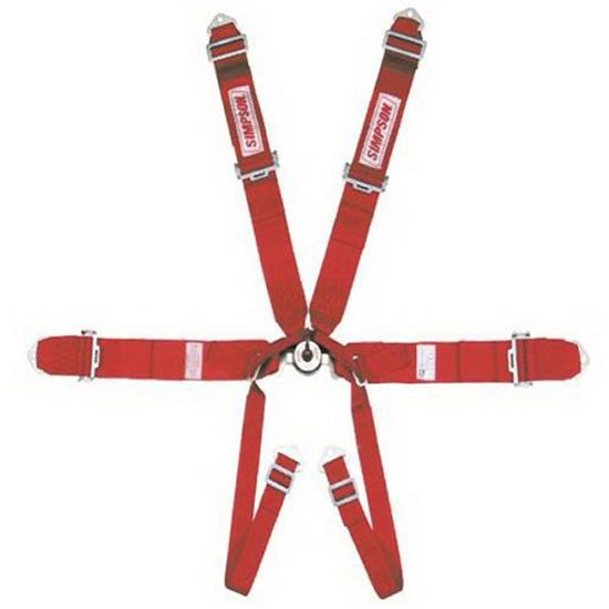 Simpson 6-Point Harness, Cam-Lock Pull-Up Seat Belt Set