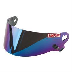 Simpson 89302 Iridium Helmet Shield, Fits SX Styles 4-8