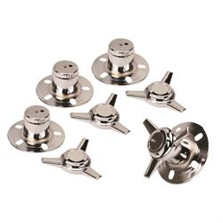 Gorilla Automotive 73506 Chrome 3 Bar Spinners w/Towers, 3 In OD