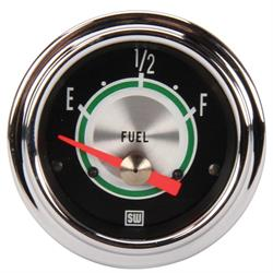 Stewart Warner 301AW Green Line Fuel Level Gauge, 2-1/16 Inch