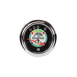 Stewart Warner 375T Green Line Voltmeter Gauge, 2-1/16 Inch