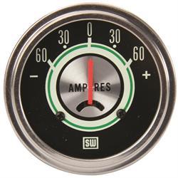Stewart Warner 690W Green Line Ammeter Gauge, 2-5/8 Inch