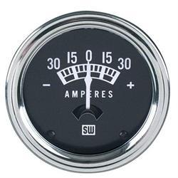 Stewart Warner 82200 Standard Ammeter Gauge-2-1/16 Inch, 30-0-30 Amps