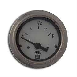Stewart Warner 82303-WHT Deluxe 2-1/16 In Elec Fuel Level Gauge