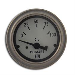 Stewart Warner 82305-WHT Deluxe Electronic Oil Pressure Gauge