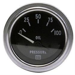 Stewart Warner 82305 Deluxe 2-1/16  Elec Oil Pressure Gauge, 0-100 PSI