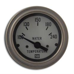 Stewart Warner 82306-WHT Deluxe 2-1/16 In Elec Water Temp Gauge