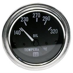 Stewart Warner 82308 Deluxe 2-1/16 Inch Electric Oil Temperature Gauge