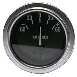 Stewart Warner 82311 Deluxe Ammeter Gauge, 2-1/16 Inch, 60-0-60 Amps