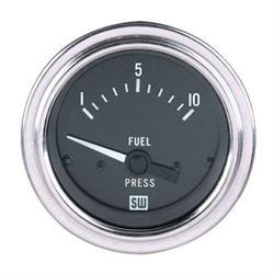 Stewart Warner 82319 Deluxe 2-1/16 Mech Fuel Pressure Gauge, 1-10 PSI