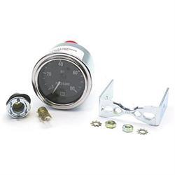 Stewart Warner 82322 Deluxe 2-1/16 Mech Oil Pressure Gauge, 5-80 PSI