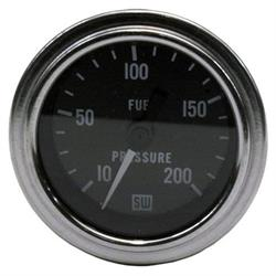 Stewart Warner 82325 Deluxe 2-1/16 Mech Fuel Pressure Gauge 10-200 PSI