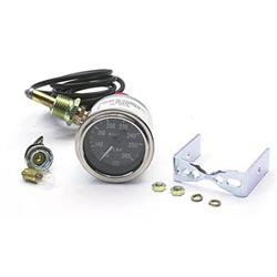 Stewart Warner Deluxe Water Temperature Gauge, Mechanical, 2-1/16 Inch