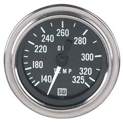 Stewart Warner Deluxe Oil Temperature Gauge, Mechanical, 2-1/6 Inch