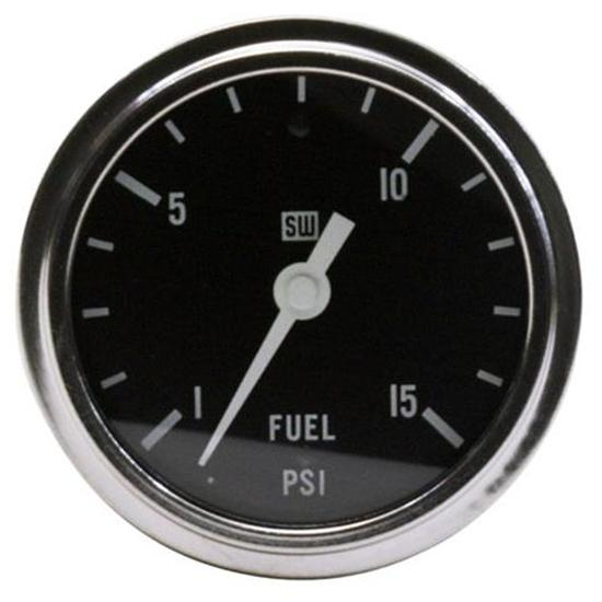 Stewart Warner 82405 2-5/8 Deluxe Mechanical Race Fuel Pressure Gauge