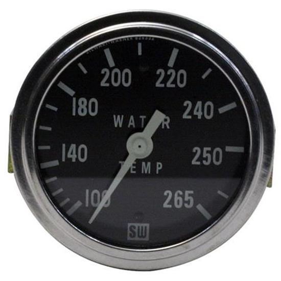 Stewart Warner Deluxe Racing Water Temp Gauge, Mechanical, 2-5/8 Inch