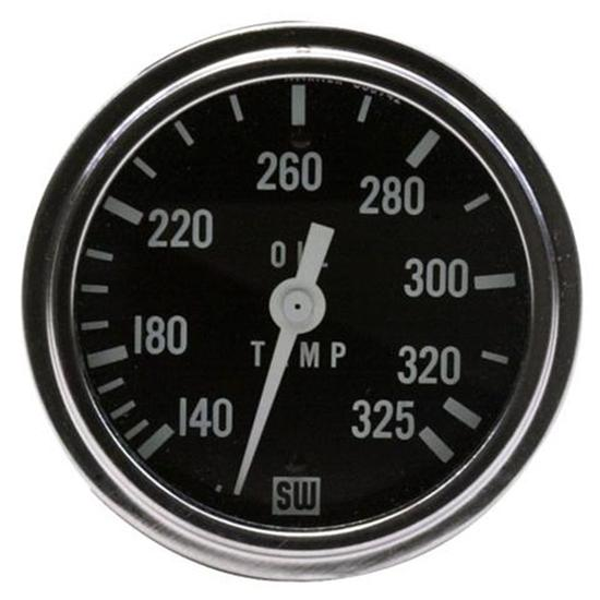 Stewart Warner 82410-72 Dlx 2-5/8 Racing Oil Temperature Gauge, Mech