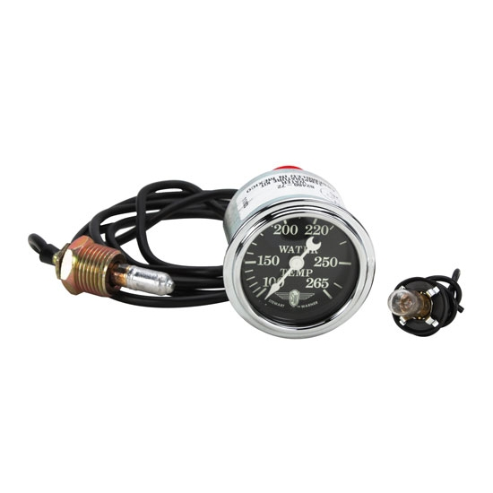 Stewart Warner 82480-72 Wings Mechanical Water Temp Gauge, Black