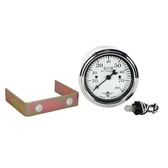 Stewart Warner 82659 Wings Tach White