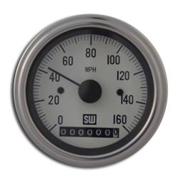 Stewart Warner 82961-WHT Deluxe Series Electric Water Temp Gauge