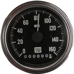 Stewart Warner 82961 Deluxe Electric Speedometer, 0-160 mph