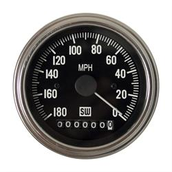 Stewart Warner 82962 Deluxe Series Speedometer, 0-180 MPH