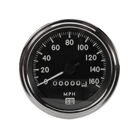 Stewart Warner 550BP-D Deluxe Sdometer, Mechanical, 3-3/8 Inch on