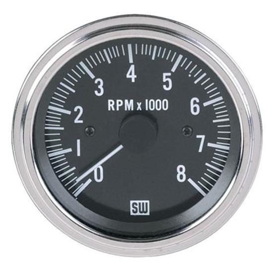 3 8 3 8 Indicator : Stewart warner deluxe black tachometer electric