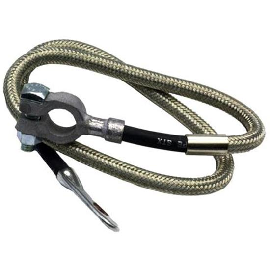 Taylor 20065 Diamondback Braided Stainless Battery Cable-65 Inch