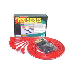 Taylor Cable 70250 8mm Spark Plug Wires, Wire Core, 90 Degree, Red