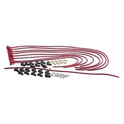 Taylor 70251 8mm Spark Plug Wires, 90 Degree, Red, Resistor Core