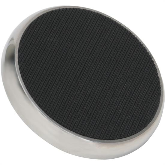 Speedway Brake Pedal Foot Pad, Round, Stainless Steel