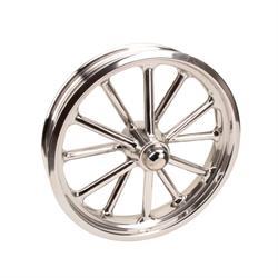 Radir 18x3 Spindle Mount 12-Spoke Wheel, Polished Finish