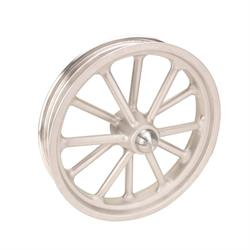 Radir Wheels 18X3 Spindle Mount 12-Spoke Wheel, Satin Finish