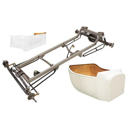 Basic 1923 T-Bucket Frame Kit w/ Standard Body and Bed, No Floor