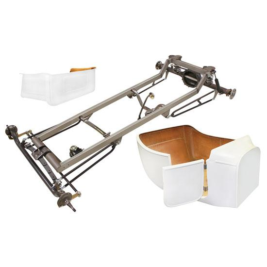 Basic 1923 T-Bucket Frame Kit w/ Deluxe Body, No Floor