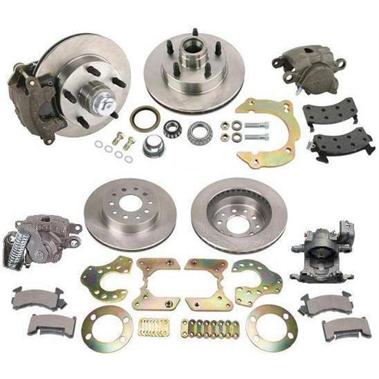 Economy Bolt-On Front/Rear Brake Kit for Chevy Spindle