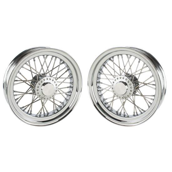 Wire Wheels Kit for Front Ford Spindles, 16 x 3.5