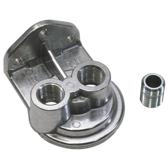 Single Remote Oil Filter Bracket, Vertical Outlet, 3/4-16 Thread