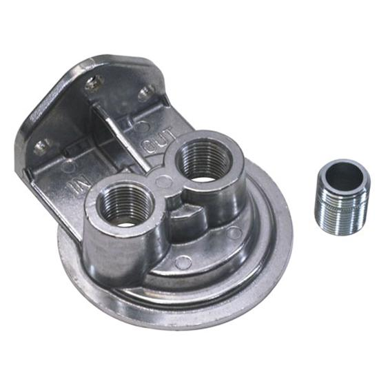 Single Remote Oil Filter Bracket, Vertical Outlet, 13/16-16 Thread
