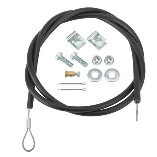 Black Lokar TC-1000LS160U Hi-Tech GM LS1 Throttle Cable Kit 60 Inch