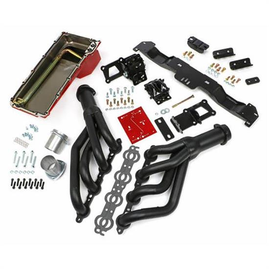 Trans-Dapt 42023 Engine Swap Kit, 1970-74 GM LS, Black Ceramic
