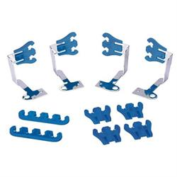 Spark Plug Wire Looms Set, Blue