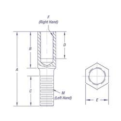 Steel QA1 AS10-10 Linkage Adjuster