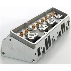 Flo-Tek 101500 Bare S/B Chevy Aluminum Head, Angle Plug